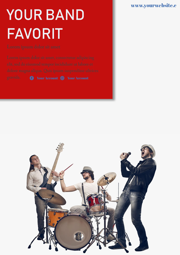 band poster template in psd design
