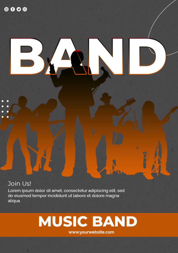 band poster template template for photoshop