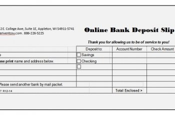 bank deposit slip template in word free download