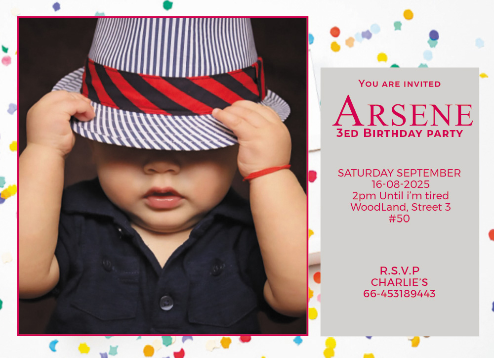 kids invitation birthday template example psd design