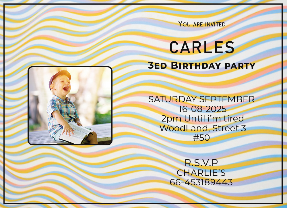 kids invitation birthday template in photoshop free download