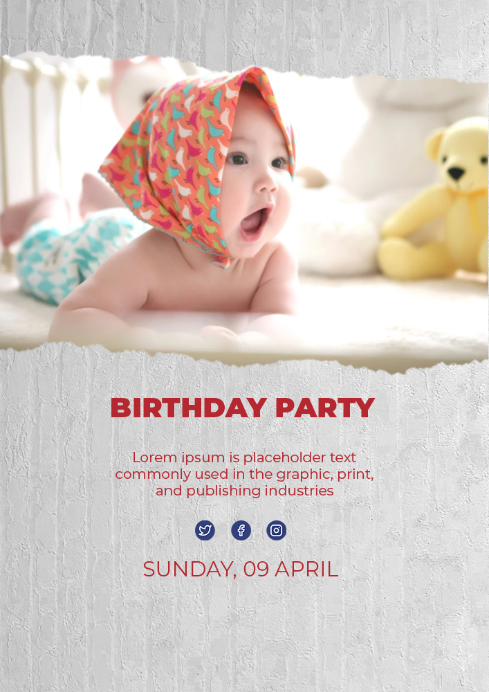 kids invitation birthday template in psd design