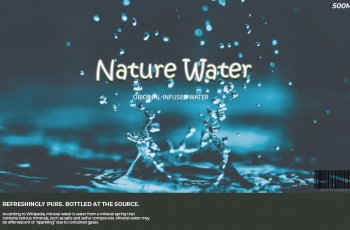 water bottle label in photoshop
