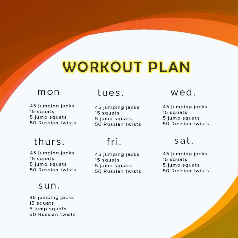 workout plan in psd design