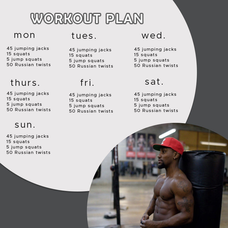 workout plan templates for photoshop